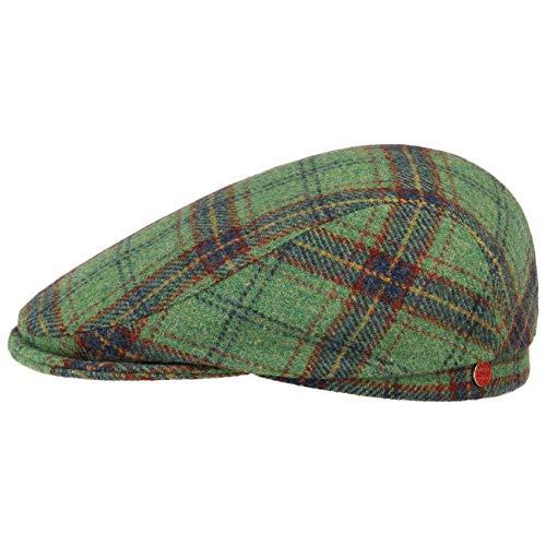 Mayser Frankie Soft Flatcap Schirmmütze Schiebermütze Wollcap Wintercap Herrencap (62 cm - grün)