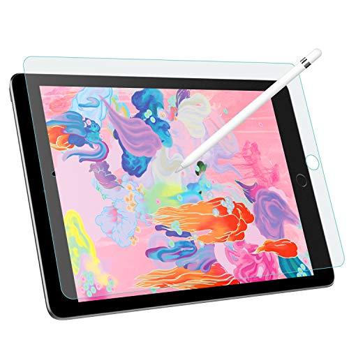 MoKo Entspiegelte Displayschutzfolie Kompatibel mit iPad 10.2, Blasenfreie Matte Schutzfolie Anti-Fingerabdruck Folie für iPad 10.2 2019 - Bereift
