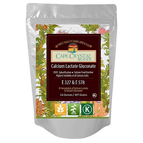 Calcium Lactate Gluconate for Molecular Gastronomy | Kosher Certified & Food Grade (8-oz)