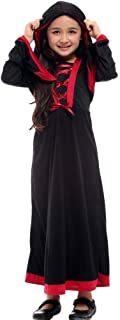 Kids Dressing Up Costumes, Halloween Mask Dance Party Witch Performance Clothing (Color : Black, Size : M)