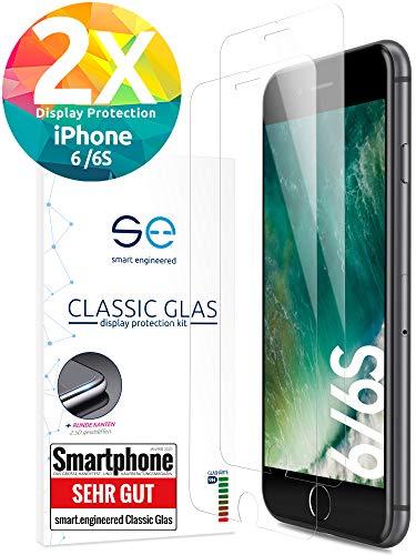 Schutzglas 9H [2 Stück] kompatibel mit iPhone 6s und iPhone 6 [Gehärtete Panzerglasfolie] Premium Panzer-Folie, Hüllenfreundlicher Display-Schutz, Schmutzabweisender Glas-Schutz, Einfache Aufbringung