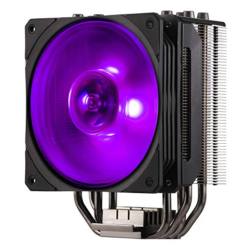 Cooler Master Hyper 212 RGB Black Edition Système de refroidissement - 4 caloducs à contact direct continu avec ailettes, ventilateur SF120R RGB LED