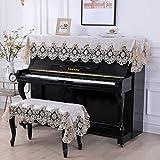 Chenzi 2 fundas para piano de piano de encaje universal para piano vertical Yamaha con punta estilo nórdico