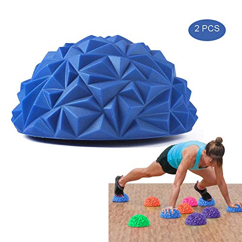 Buy Balance Pods Set, Spiky Dome - 1Pair Hedgehog Style Domed Stability Pods for Children and Adults...