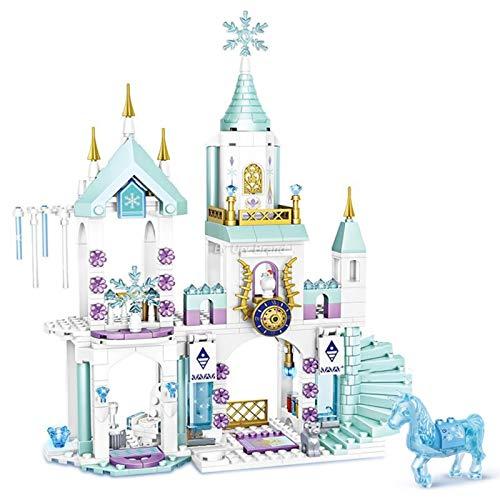 LuckyOne Friends Series Princess's Ice Playground Castle House Set Películas Caballo DIY Bloque de Construcción Juguetes Para Niñas Niños Regalos Creativos