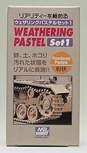 【 ウェザリングパステルセット1 】( 15g×3色 ) Mr.カラー cmPP101//戦車の車体、キャタピラ、転...