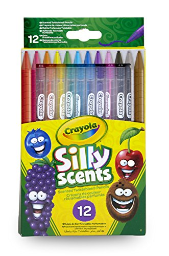 Silly Scents Scented Twistable Pencils Felt Tip Colouring Pens 12 Pack