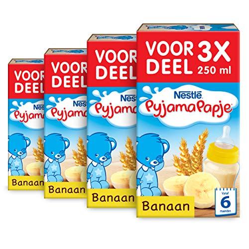 Nestlé Pyjamapapje Banaan 6+ maanden - 4 doosjes van 3 pappen