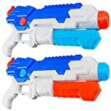HDJUNTUNKOR Water Gun for Kids, 2 Pack Squirt-Gun for Adults 40 Ft Long Range Water Blaster for Teens Beach Swimming...
