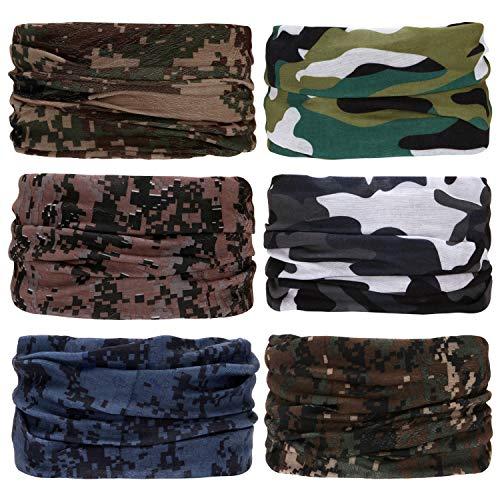 Sea Team 6-pack Assorted 18 in 1 Fibra di poliestere versatile per abbigliamento sportivo e casual Copricapo - Può essere usato come ghette per il collo, bandane, passamontagna (B-9)