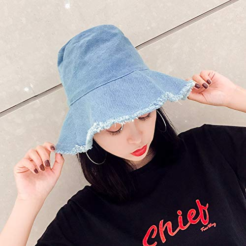 Nuevos Cubo de chatarra de Corea del Sombrero de Vaquero recreación al Aire Libre Sombrero Plegable del Sol Gorras Casquillo Hombres y Mujeres Marea ACDES