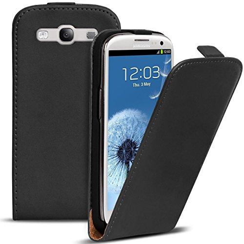 Conie Hülle für Samsung Galaxy S3 Neo, S3 Flip Hülle, Klapphülle Schwarz, PU Leather Hülle, Premium Handy Schutz Hülle aus PU Leder, für Samsung Galaxy S3 Neo (4.8