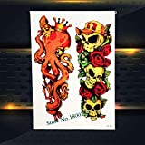 Yyoutop Tattoo Summer Style Glass Roses Tattoo Paste PHB509 Flying Birds Crow Clessidra Designs Tattoo Legs3set