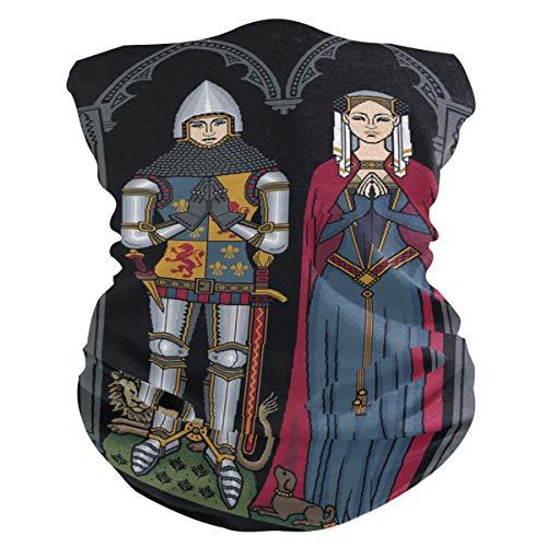 LORONA - Pasamontañas medieval para caballero y ladyface mascarilla, bandana para el cuello, polainas para hombres y mujeres