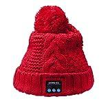 Alessioy Bonnet Avec Haut Parleur Bluetooth Casque Doux Chaud Et Micro Style Mode de Vie Sans Fil À La Mode Accessoires De Base Quotidien Vêtements (Color : Rot, One Size : One Size)