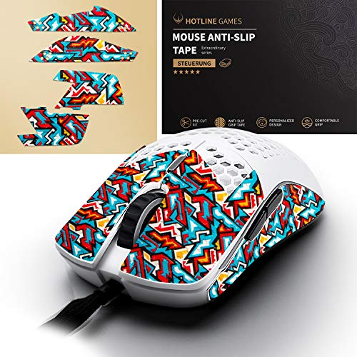 Hotline Games Colorful Mouse Anti-Slip Grip Tape for Glorious Model O/Model O Wireless Odin Gaming Mouse, Non-Fading,Sweat Resistant,Cut to Fit,Easy to Use,Professional Mice Upgrade Kit