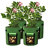 YESTORY Potato Planting Bag,Plant Grow Bags Aeration Fabric Pots with Handles (10 Gallon)