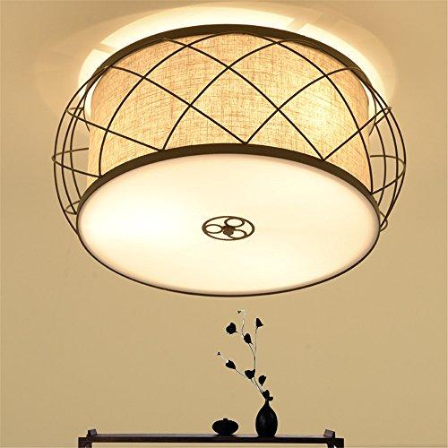 BRIGHTLLT Luz de techo chino moderno minimalista lámparas Dormitorio Retro ronda estudio...