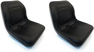 A&I Products (2) Black HIGH Back Seats for John Deere Gator XUV 620i, 850D, 550, 550 S4 UTV by The ROP Shop