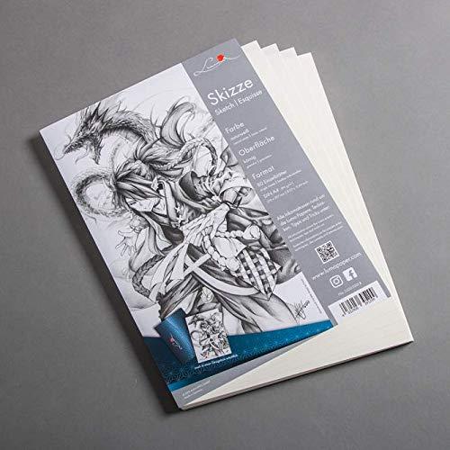 Luma Skizzen Papier DIN A4 - PapierDirekt