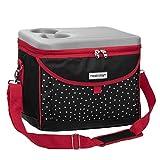 anndora Kühltasche 22 L Kühlbox 35 x 24 x 27 cm - schwarz weiß gepunktet