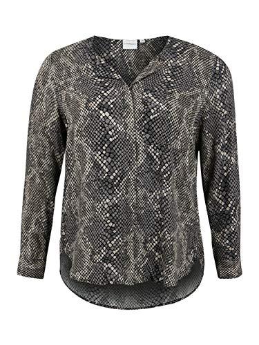 Junarose Jralinaveronica LS Shirt-K Camisa Manga Larga, Gris (Grey AOP: Snake Print), 50 (Talla del Fabricante: 48) para Mujer