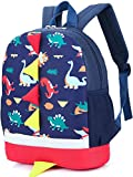Kid Toddler Backpack Boy Preschool with Strap Dinosaur Blue...