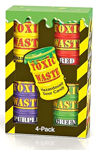 Toxic waste gift set - Confezione regalo rifiuti tossici - assortimento di confezioni da 4 pezzi di fusti viola, verdi, rossi e gialli