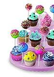 Ibili 827600 Etagere, ideal für Cupcakes / Cakepops, Kunststoff, Löcher für 48 Stäbe - 2
