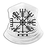 KDU Fashion Headband,Símbolo Vikingo Tubo De Nariz De Invierno Bufanda Cuello Envoltura Calefactora Diademas Livianas 12 En 1 para Correr Deportivo,26x30cm