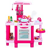 Best Choice Products Pretend Play Kitchen Toy Set for Kids with Water Vapor Teapot, 34 Accessories,...