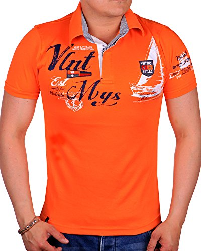 Herren Polo-Shirt Slim Fit 2597 (M-Slim, Orange 2597)