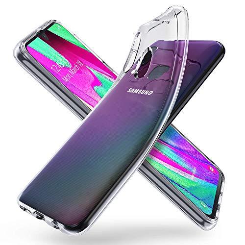 """ORNARTO Crystal Clear Cover Galaxy A40, Estremamente Sottile Morbida e Protettiva TPU Flessibile Trasparente Custodia per Samsung Galaxy A40(2019) 5,9"""""""