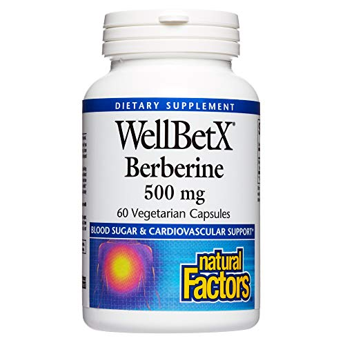 WellBetX Berberine 500 mg by Natural Factors, 60 Vegetarian Capsules (60 Servings)