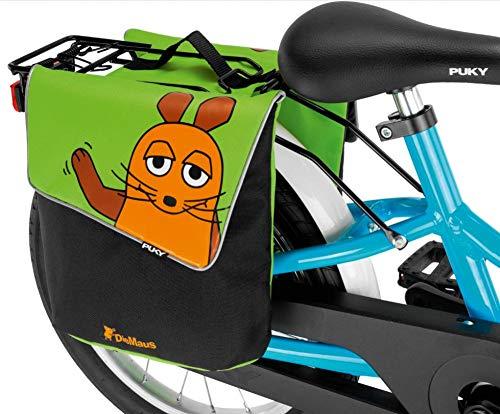 Puky DT 3 Kinder Fahrrad GepÀcktrÀgertasche/Doppeltasche Die Maus grÌn/schwarz