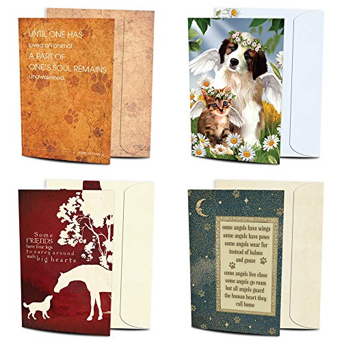 Tree-Free Greetings Four Legged Friends Pet Sympathy 8 Pack Card Assortment, 100% Recycled Paper, ECO-Friendly Cards, Made in the USA. Variety Pack with 8 Matching Envelopes, 5�x7� (GA31529)