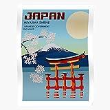 Générique Tokyo Shrine America Japan JPN Vintage Travel Americana Miyajima Affiche d'impression d'art de Mur de décor à la Maison !