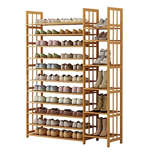 FEANG Zapatero de 10/11 niveles de madera, organizador de almacenamiento de zapatos, estante multifuncional para zapatero para entrada, sala de estar, zapatero (tamaño : 170 (11 niveles)