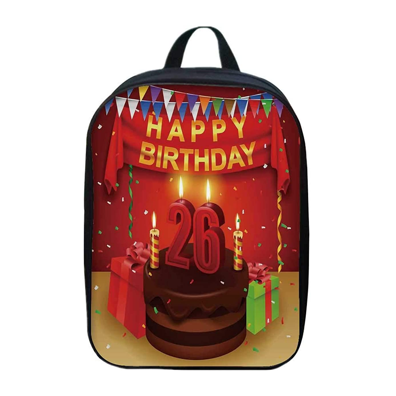 26th Birthday Decorations Stylish Mini Backpack,for School Travel,8.6