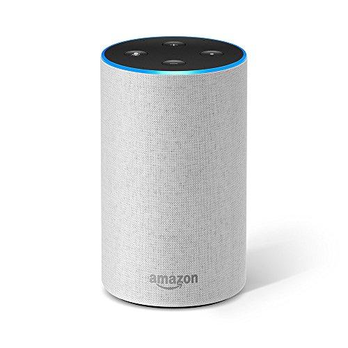 Amazon Echo (2. Gen.), Intelligenter Lautsprecher mit Alexa, Sandstein Stoff