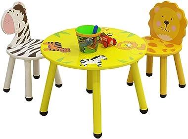 VEKI Children's Cartoon Study Table Game Table, Kids Desk and Chair Set, Children Animal Cartoon Study Table, Game Table
