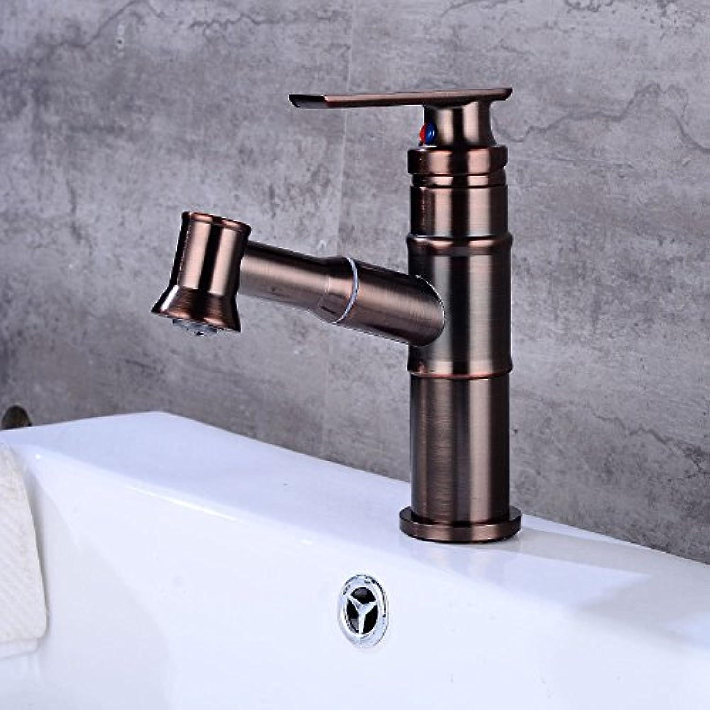 QIMEIM Wasserhahn Armatur Mischbatterie Waschtischarmatur Pull-out-Einhebelsteuerung Einhebelsteuerung, Warmes und kaltes Wasser Badenzimmer Waschbecken Armatur