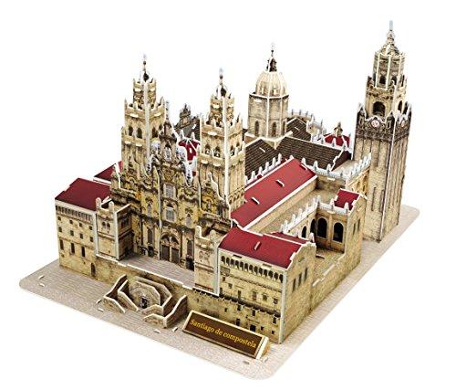 Pop Out mundo 3d Puzzle–mundo arquitectura serie 'La Catedral de Santiago de Compostela, Galicia, España'