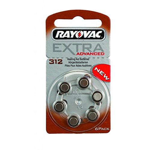 Rayovac Extra Typ 312 Hörgerätebatterie Zinc Air P312 PR41 ZL3, 120 Stück