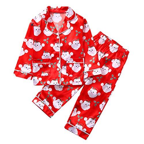 Toddler Baby Enfants Filles Garçons Christmas Santa Tops Pants Pyjamas Sleepwear Set Bébé Filles Garçons Unisexe Combinaisons Chaud Barboteuse À Capuche Manteaux pour Enfants