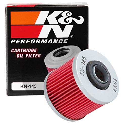 K&N Motorcycle Oil Filter: Premium High Performance Oil Filter designed to be used with synthetic or...