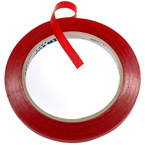 Foxnovo Car Auto Double-sided Tape Heat Resistant Clear Acrylic Adhesive Foam Tape 5m*10mm Super Sticky