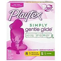 海外直送品 Playtex Playtex Gentle Glide Deodorant Multi-Pack Tampons, 18 each