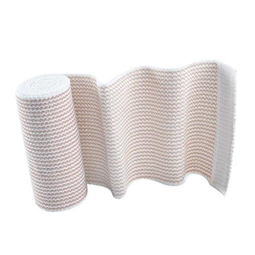 Hellery Supervivencia De Emergencia Compresión Vendas Adhesivas Envoltura para La Herida Envoltura para Paciente/Cuello Brazo, Muñeca, Pie, Protección, Cubi - 7.5cm x 4.5m