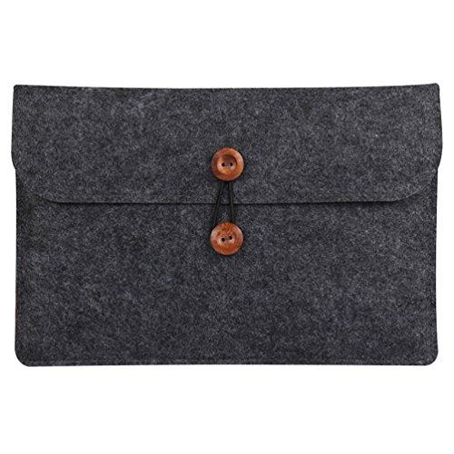 YiJee Custodia Protettiva Borsa Sleeve Laptop con Tasche per Macbook Air/Pro 13.3 Pollice Nero